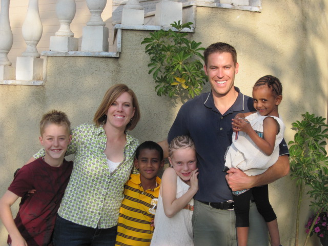 Taken in Ethiopia after our Embassy appointment on December 1st, 2011